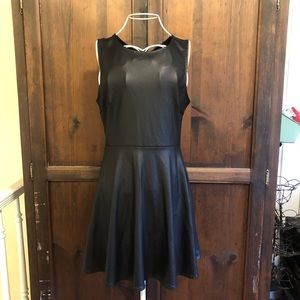 Forever 21 Vegan Faux Leather Skater Dress